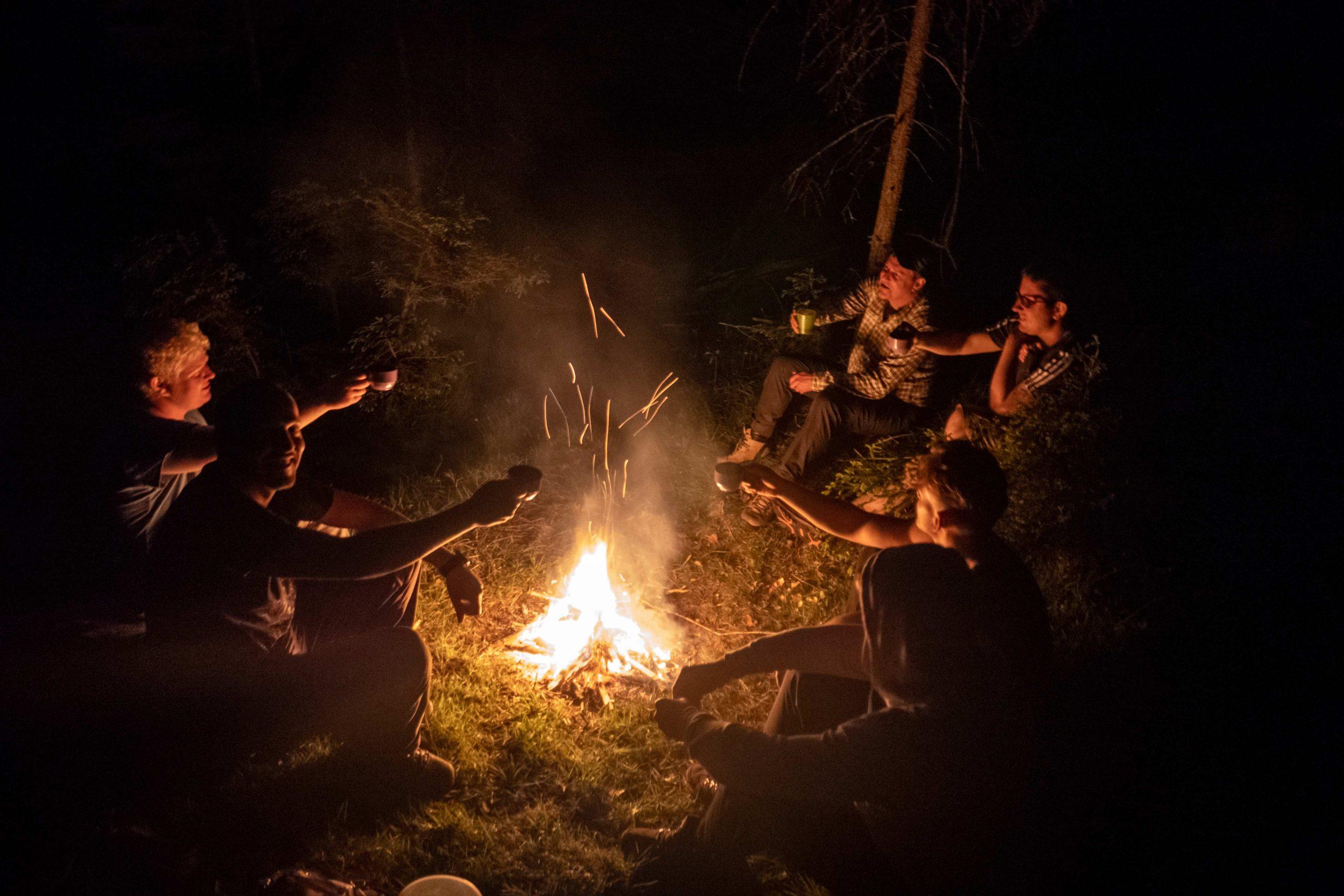 Lagerfeuer am Biwak