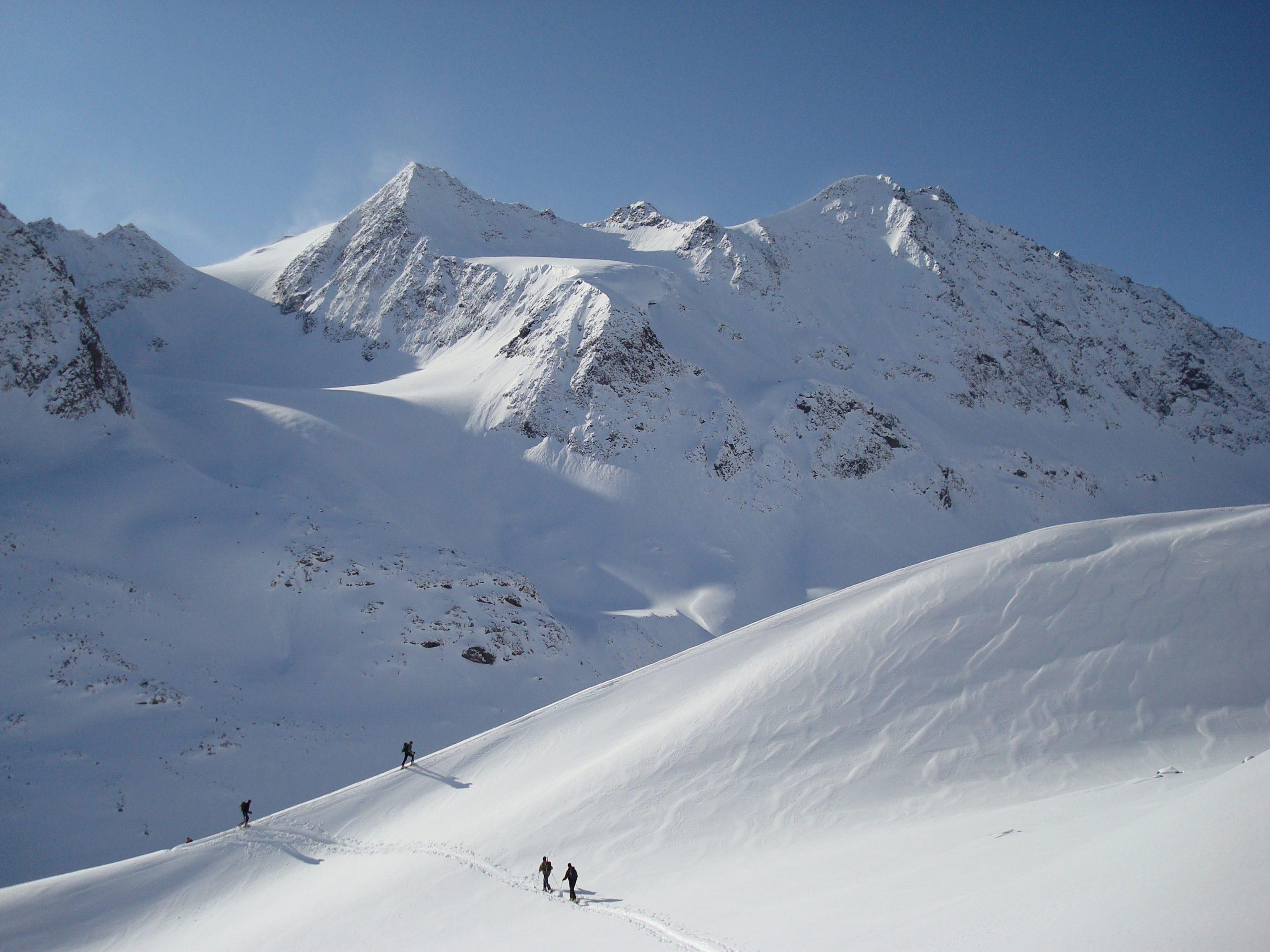 Skibergsteigen im Hochstubai